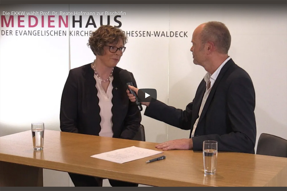 Designierte Bischöfin Hofmann im Video-Interview